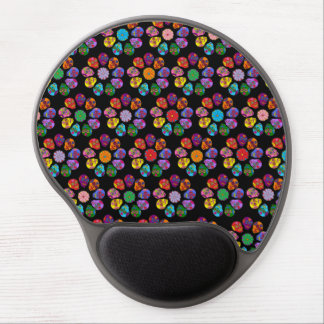 Customizable Sugar Skulls Flowers Gel Mouse Pad