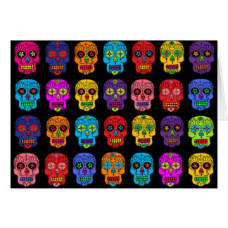 Customizable Sugar Skulls Greeting Card