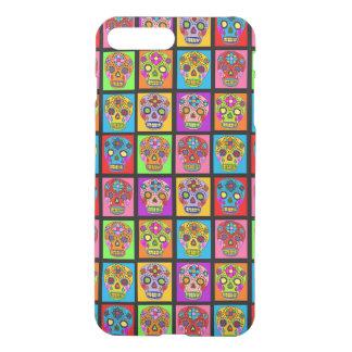 Customizable Sugar Skulls Squares iPhone 7 Plus Case