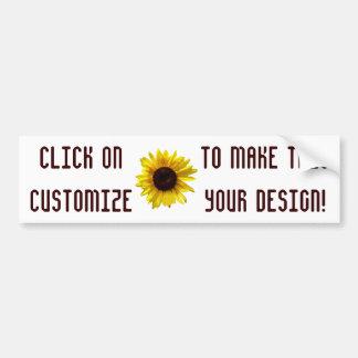 Customizable Sunflower Bumper Sticker Car Bumper Sticker
