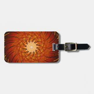 Customizable Sunset (Psychedelic spirograph) Luggage Tag