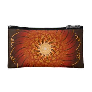 Customizable Sunset (Psychedelic spirograph) Makeup Bags