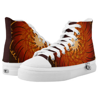 Customizable Sunset (Psychedelic spirograph) Printed Shoes