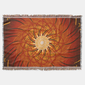 Customizable Sunset (Psychedelic spirograph) Throw Blanket