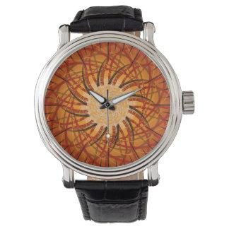 Customizable Sunset (Psychedelic spirograph) Wrist Watch