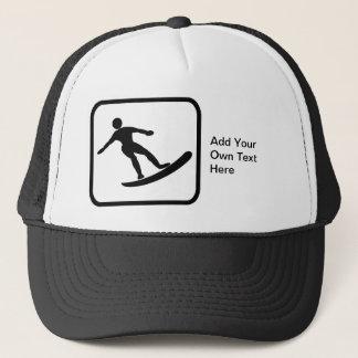 Customizable Surfer Logo Trucker Hat