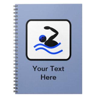 Customizable Swimmer Logo Notebook