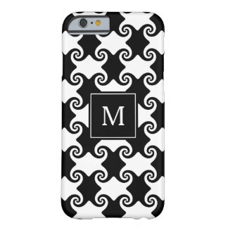 Customizable Swirl Shapes Celtic like w/ Monogram Barely There iPhone 6 Case
