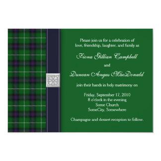 "Customizable Tartan Celtic Wedding Invitation 5"" X 7"" Invitation Card"