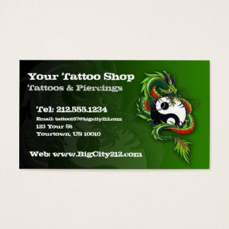 CUSTOMIZABLE Tattoo Business Card