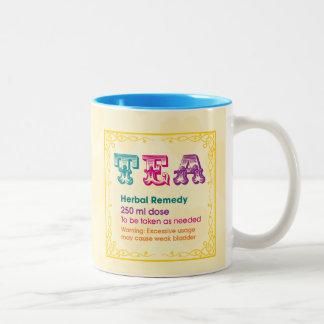 Customizable: Tea - herbal remedy Two-Tone Coffee Mug