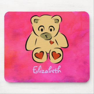 Customizable Teddy Bear Toy Mouse Mat