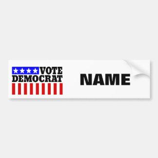 Customizable template Vote Democrat Bumper Sticker