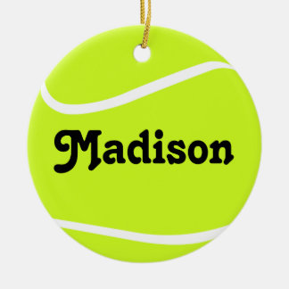 Customizable Tennis Ball Christmas Ornament