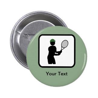 Customizable Tennis Player Logo 6 Cm Round Badge