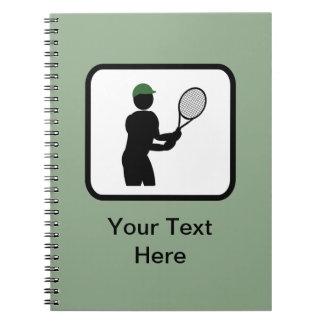 Customizable Tennis Player Logo Notebook