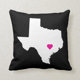 Customizable Texas State Love Reversible Pillow Throw Cushion