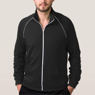 Customizable Text, Men's Fleece Track Jacket