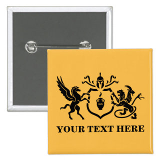 Customizable Text Pegasus vs Chimera 15 Cm Square Badge