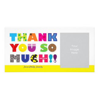 Customizable Thank You Photo Greeting Card