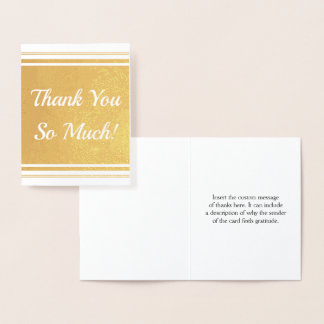 "Customizable ""Thank You So Much!"" Card"