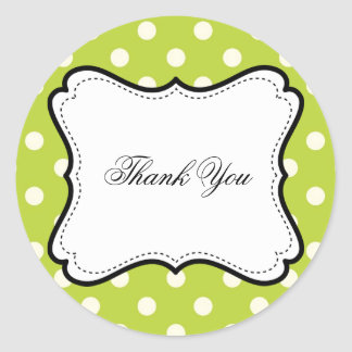 Customizable Thank You Sticker