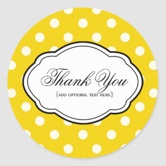 Customizable Thank You Sticker Label