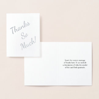 "Customizable ""Thanks!"" Card"