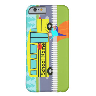 Customizable the Catching School Bus iPhone 6 Case