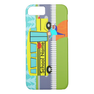 Customizable the Catching School Bus iPhone 7 Case