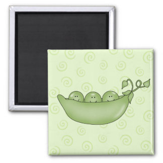 Customizable Three Peas in a Pod magnet