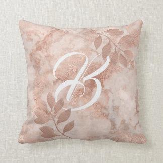 Customizable Throw Pillow faux Rose Gold patterns