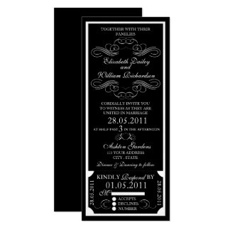 Customizable Ticket Invitation - Curl Design