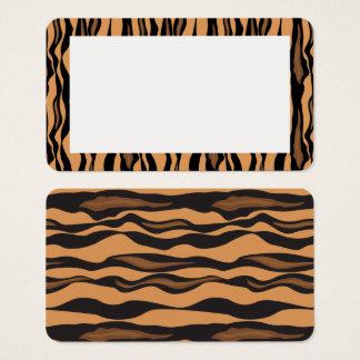 Customizable Tiger Print Border Blank Card