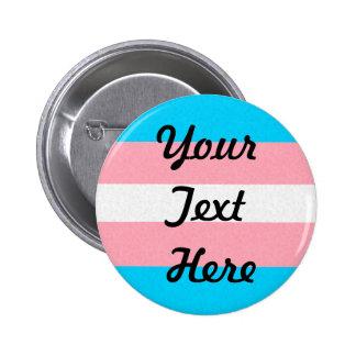 Customizable Transgender Pride Flag 6 Cm Round Badge