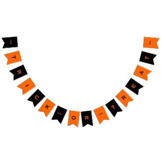 Customizable Trick-or-Treat Halloween Party Banner