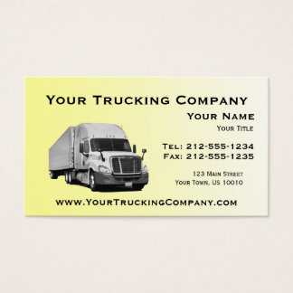 CUSTOMIZABLE Trucking Business Cards