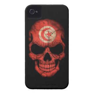 Customizable Tunisian Flag Skull iPhone 4 Covers