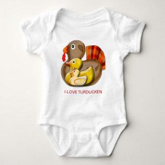 Customizable Turducken Design Baby Bodysuit