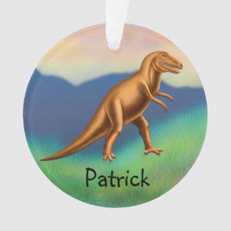 Customizable Tyrannosaurus Rex Dinosaur Ornament
