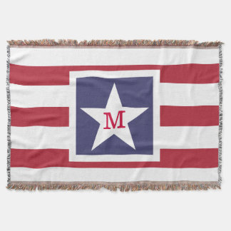 Customizable U.S.A. Flag Monogram