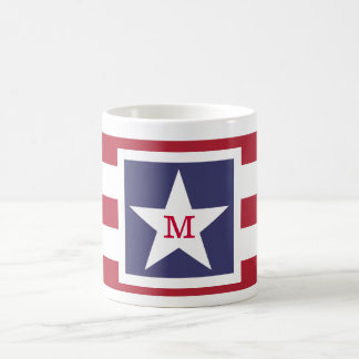 Customizable U.S.A. Flag Monogram Mugs