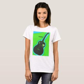 Customizable Ukulele Shirt #2: Green on Lime