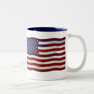 Customizable US Flag Mug