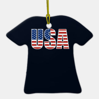 Customizable USA American Flag Ceramic T-Shirt Decoration