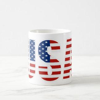 Customizable USA American Flag Basic White Mug