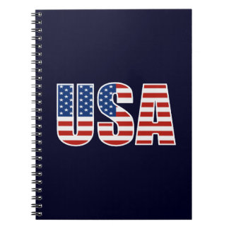 Customizable USA American Flag Notebook
