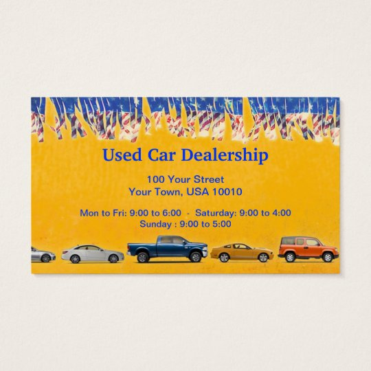 CUSTOMIZABLE Used Car Dealer Business Cards