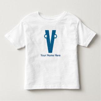 Customizable V Letter T-Shirt