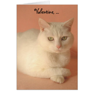 Customizable Valentine Cats Greeting Card